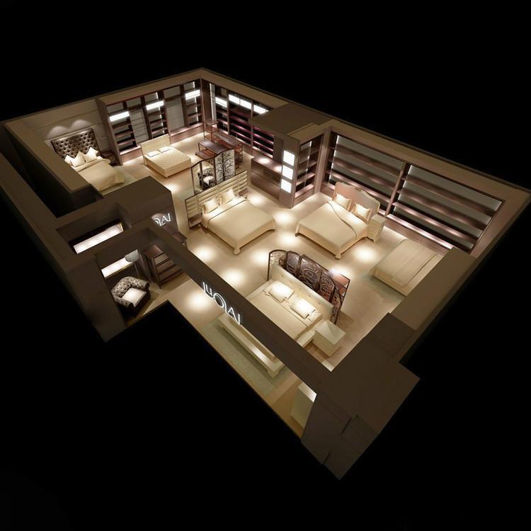 未来家居展厅地产展厅水电设计效果图概念设计临时家具的开发图片