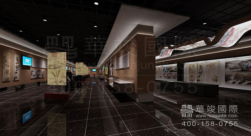 书画展厅设计展现不一样的艺术美图片
