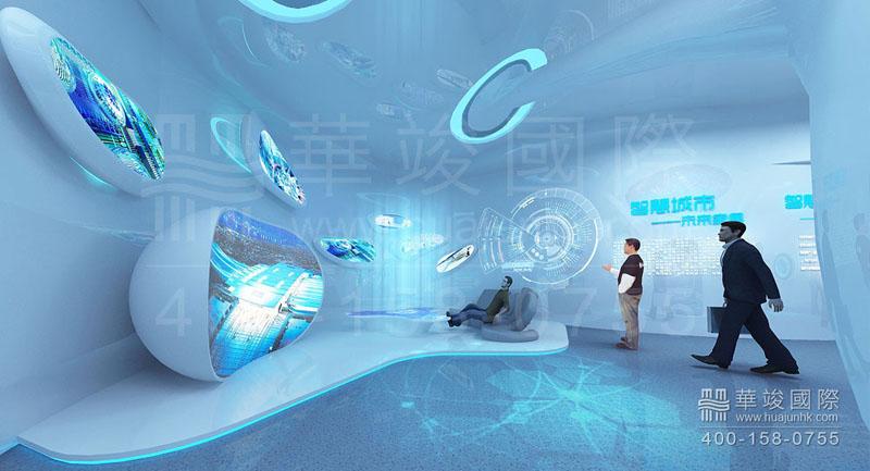 和会展设计不同,企业展厅由于是室内的,长期固定的,所以更要注重材料