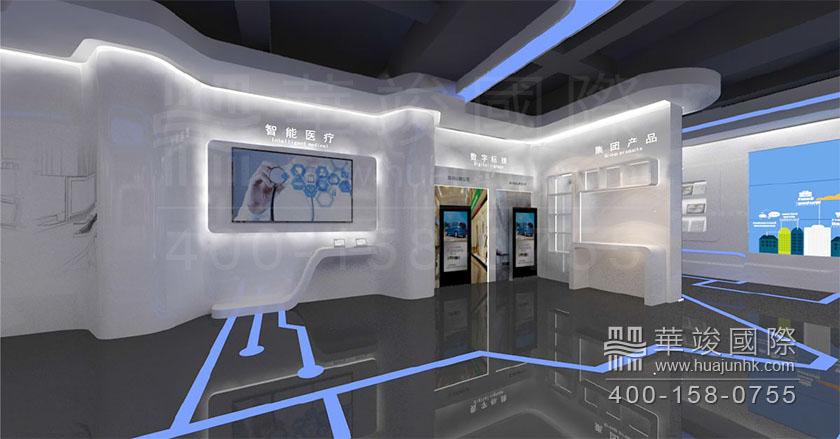 多媒体展厅设计立面图图片